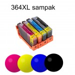 HP 364XL kompatibel Hp sampak  1 sort 1 cyan 1 magenta 1 yellow