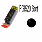Canon kompatibel PGI-520BK Sort blækpatron  pgi 520 sort  21ml